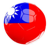 Chine soccer ball — Stock Photo
