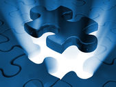 Jigsaw piece of puzzle — Stock Photo