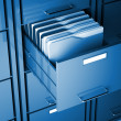 File cabinet and folder - Stockfoto