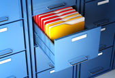ファイル キャビネットおよびフォルダー — ストック写真