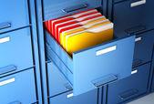 Arkivskåp och mapp — Stockfoto