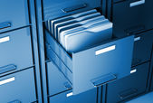 File cabinet and folder — Stock Photo