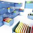 File cabinet 3d — Stock Photo