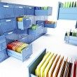 Stock Photo: File cabinet 3d