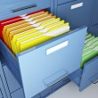 Foto Stock: File cabinet detail