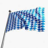 Bavaria flag — Stock Photo