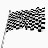 Start flag — Stock Photo