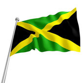 Jamaica flag — Stock Photo