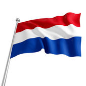 Netherland flag — Stock Photo