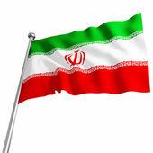 Irański flaga 3d — Zdjęcie stockowe