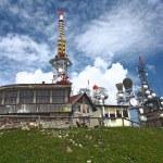 Antenna tv station on mountain — Stock Photo #3493735