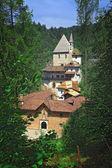San romedio church on alps — Stock Photo