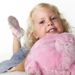 Portrait of blonde little girl — Stock Photo #3569576