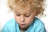 Closeup portrait of blonde kid — Stock Photo