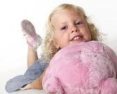 Portrait of blonde little girl — Stock Photo