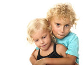 Blonde kids — Stock Photo