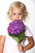 Cute blonde child — Stock Photo