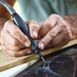 Craftman at work detail — Stock Photo