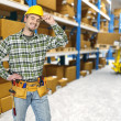 Warehouse and manual worker — Stock Photo #3603702