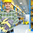 Manual worker in a warehouse — Stock Photo