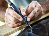 Craftman at work — Stock Photo