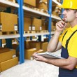 Royalty-Free Stock Photo: Warehouse and manual worker