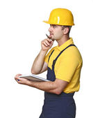 Standing manual worker — Stock Photo