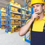 Caucasian manual worker portrait — Stock Photo