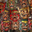 Wooden thai mask - Stock Photo