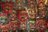 Wooden thai mask — Stock Photo