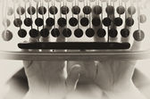 Typewriter vintage background — Stock Photo