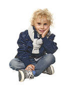 Smiling blond boy — Stock Photo