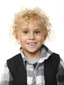Kid portrait on white — Stock Photo