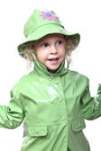 Kid with raincoat — Stock Photo