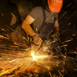 Electric grinder in action — Stock Photo