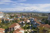Panorama of city in Turkey — Стоковое фото