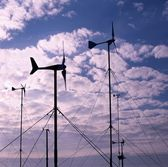 Small Wind Turbines — Stock Photo