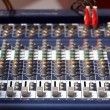 Audio Mixing Console — 图库照片