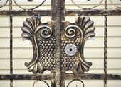 Elaborate Bronze Gate — Stock Photo