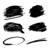 Trazos de pincel vector negro — Vector de stock