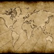 Old grungy world map - Stock Vector