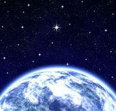 Todo mundo desejando a estrela no espaço — Fotografia Stock