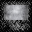 Diamond plate metal texture — Vector de stock