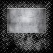 Diamond plate metal texture — Stock vektor