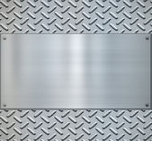 Glanzende diamant plaat metaal backgorund — Stockvector