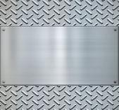 Glänzend diamant platte metall backgorund — Stockvektor