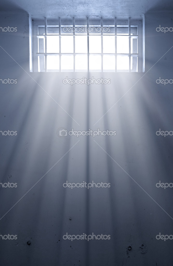 A cold prison cell with sunshine through window  — Stock Vector #2947410