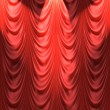 Spotlight on red curtain — Stock Vector