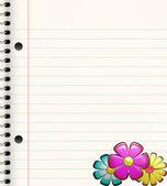 Buch mit Blumen — Stockvektor