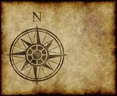 Flèche indiquant le nord compas carte — Vecteur
